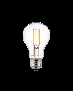 Noxion Lucent Classic LED Włókno A60 E27 5W 822-827 Przezroczysty | Ściemnianie - Bardzo Ciepła Biel - Zamienne 40W