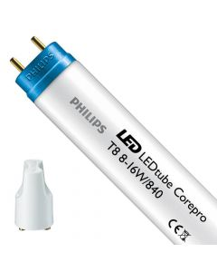 Philips LEDtube T8 Corepro (EM/Mains) Standard output 8W - 840 Zimna Biel   60cm Zamienne 18W