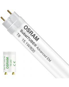 Osram SubstiTUBE LED T8 Advanced (EM/Mains) Ultra Output 15.1W - 830 Ciepła Biel   120cm Zamienne 36W