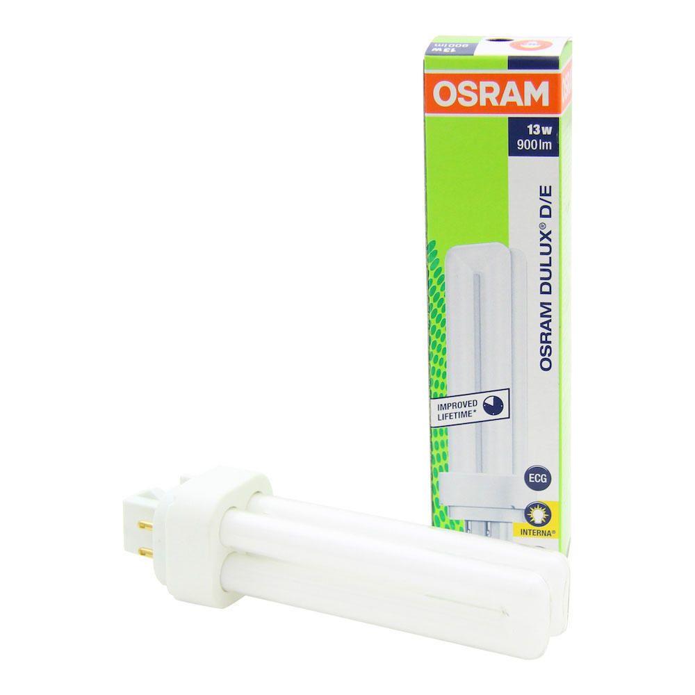 Osram Dulux D/E 13W 827   Bardzo Ciepła Biel - 4-Piny