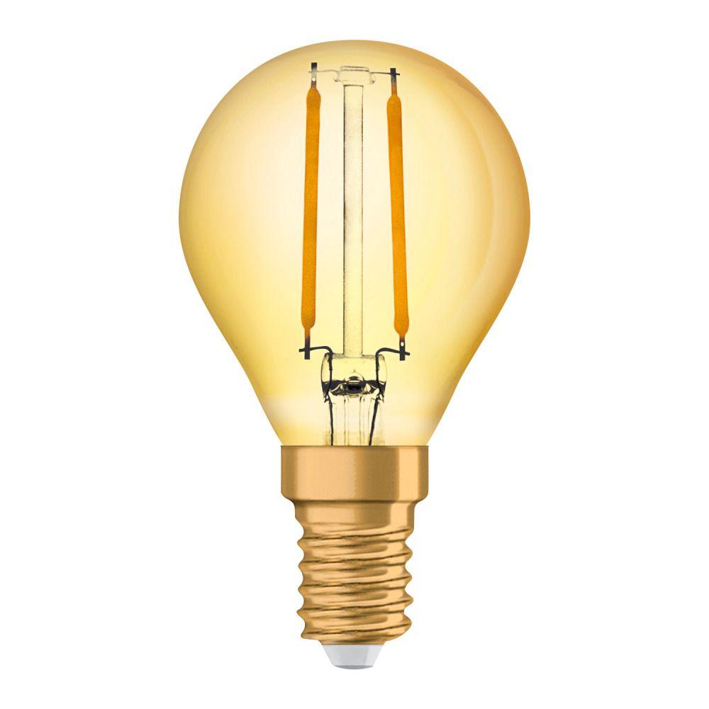 Osram Vintage 1906 LED Classic E14 P 2.5W 824 Włókno Złoty   Bardzo Ciepła Biel - Zamienne 22W