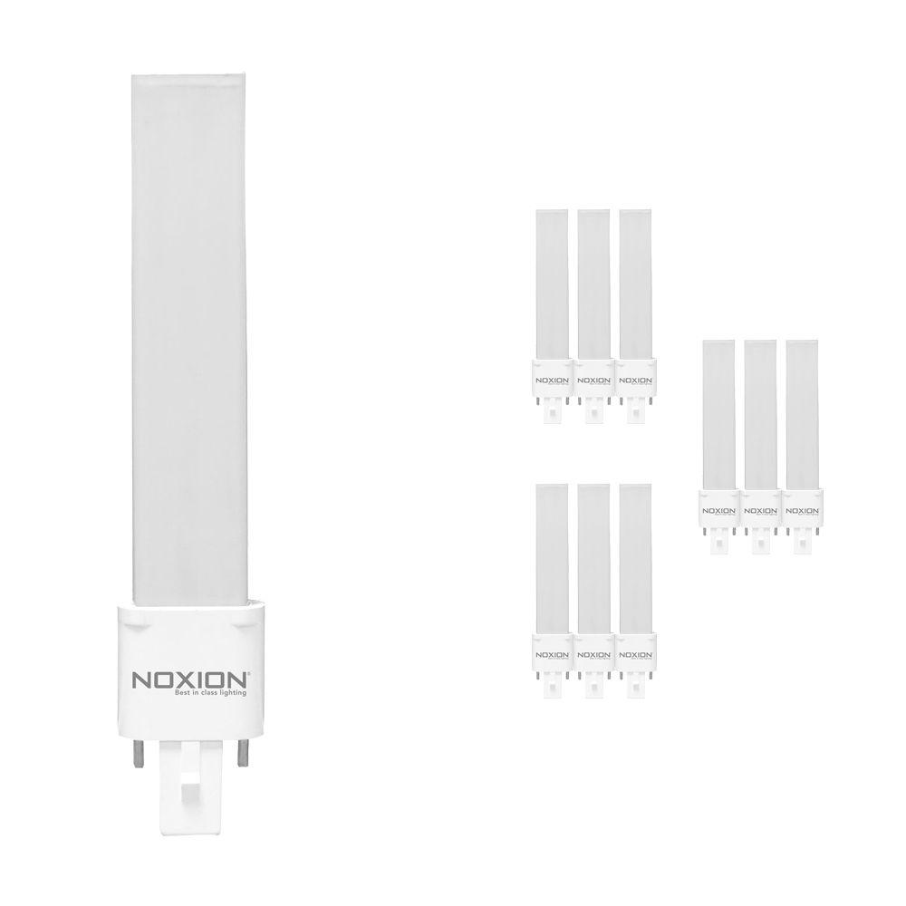 Opakowanie 10x Noxion Lucent LED PL-S EM 4.5W 830 | Ciepła Biel - 2-Piny - Zamienne 10W and 13W