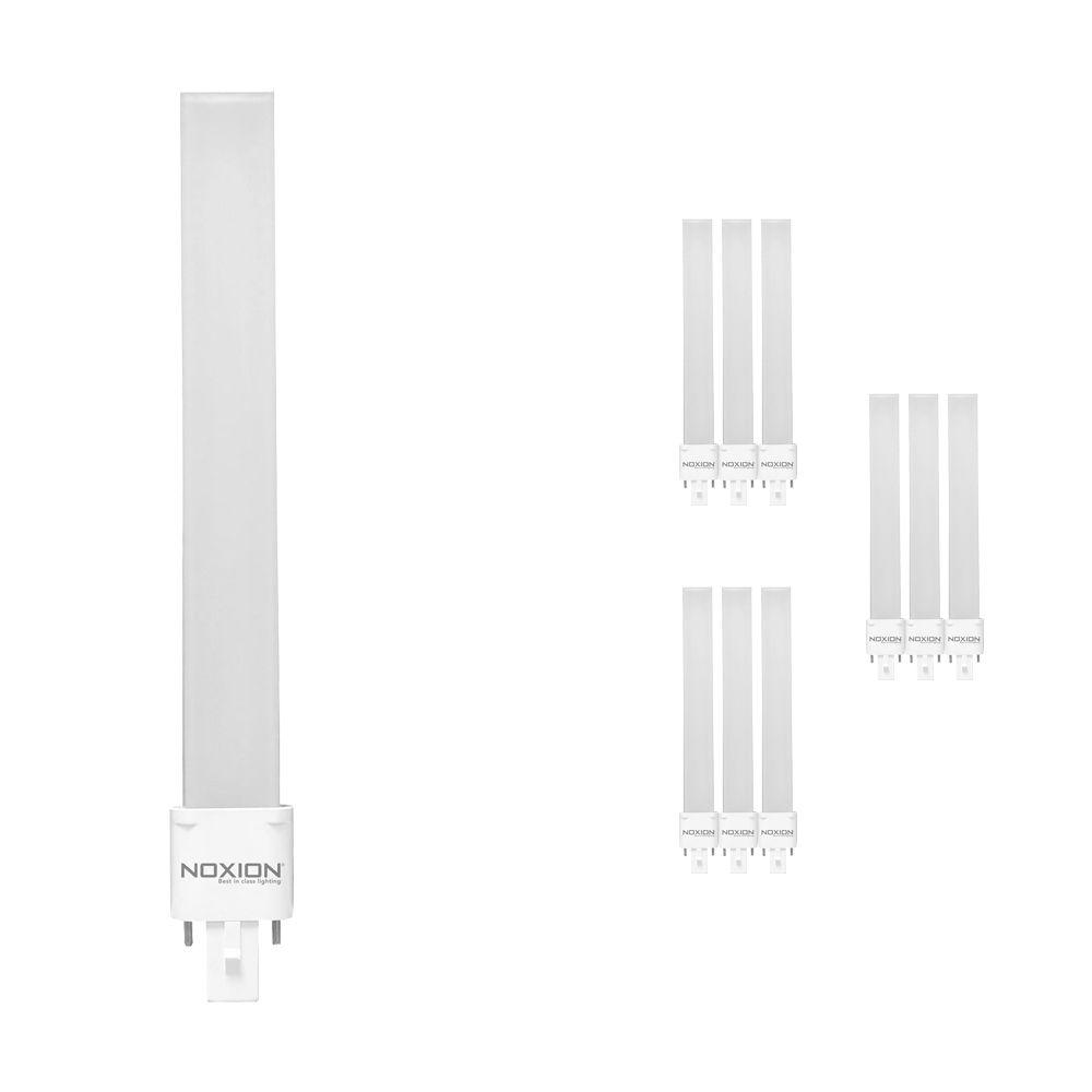 Opakowanie 10x Noxion Lucent LED PL-S EM 6W 830 | Ciepła Biel - 2-Piny - Zamienne 11W